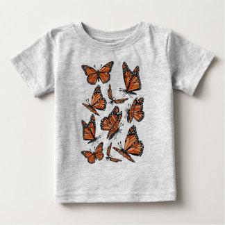 Geometric Monarch Butterflies Baby T-Shirt