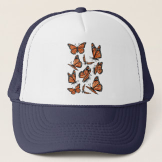 Geometric Monarch Butterflies Trucker Hat