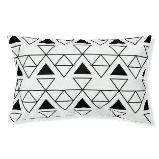 Geometric Monochrome Dog Bed