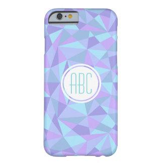 Geometric Monogram Initial Blue/Purple Phone Case