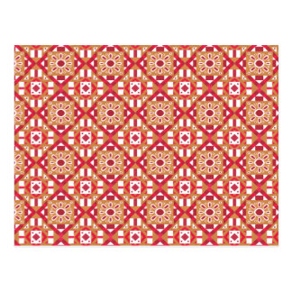 Geometric Moroccan Watercolor Seamless Pattern 1 Postcard