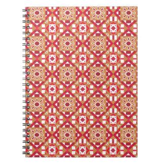 Geometric Moroccan Watercolor Seamless Pattern 1 Spiral Note Books