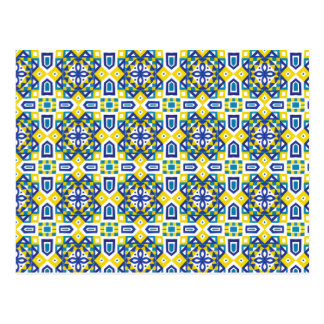 Geometric Moroccan Watercolor Seamless Pattern 3 Postcard