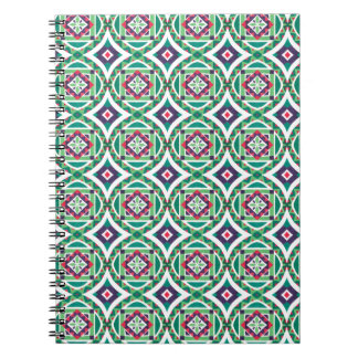 Geometric Moroccan Watercolor Seamless Pattern 4 Spiral Note Book