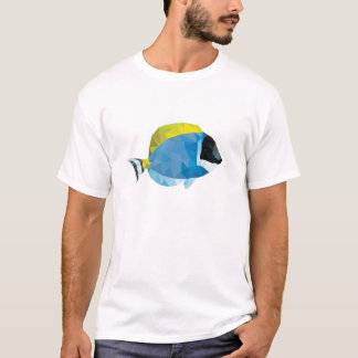Geometric Mosaic Powder Blue Tang T-Shirt