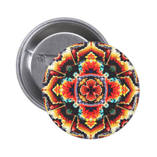 Geometric Motif 2 Inch Round Button