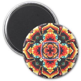 Geometric Motif 2 Inch Round Magnet