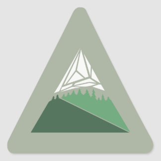 Geometric Mountain Art Sticker