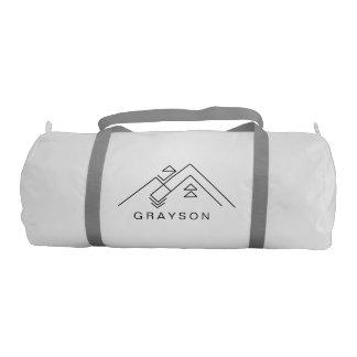 Geometric Mountain | Customisable Workout Bag