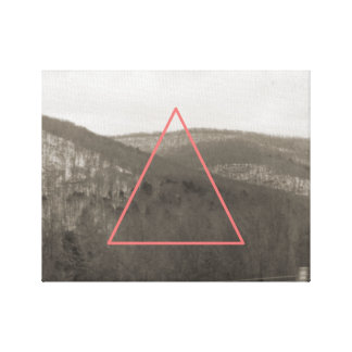 Geometric Mountain Range Canvas Print
