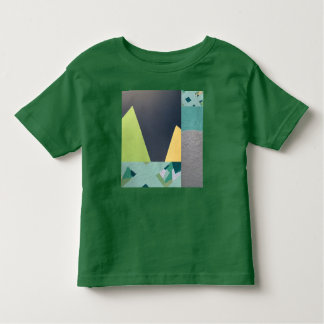 Geometric mountains mural collage toddlers shirt
