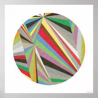 Geometric Multi Coloured Art Print I