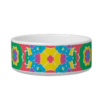 Geometric Multicolored Print Bowl