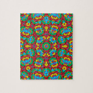 Geometric Multicolored Print Jigsaw Puzzle