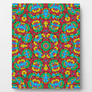 Geometric Multicolored Print Plaque