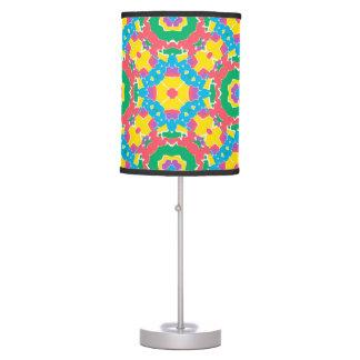 Geometric Multicolored Print Table Lamp