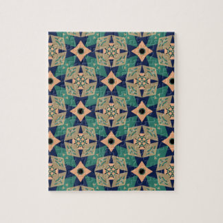 Geometric mural design pattern puzzle