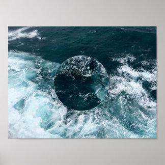 Geometric Ocean Poster