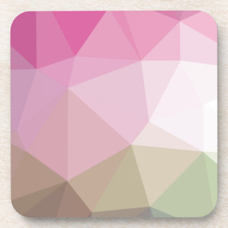 Geometric Ombre Pink to Tan Colorblock Coaster