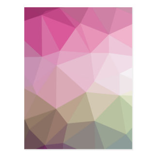 Geometric Ombre Pink to Tan Colorblock Postcard