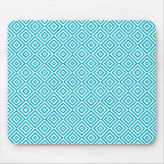 Geometric Optical Illusion Pattern Aqua Mouse Pad