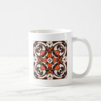 Geometric Orange And Black Abstract Coffee Mug