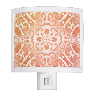 Geometric_Orange-Cream (c)- Unisex Nite Light