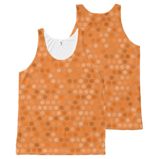 Geometric Orange Polka Dot Design All-Over-Print Tank Top