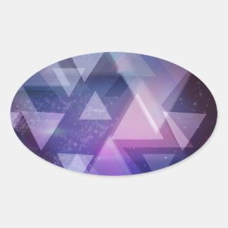 Geometric Oval Sticker