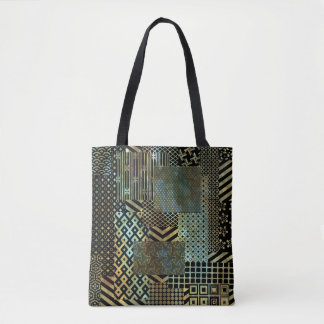 Geometric Patch Deco Tote Bag