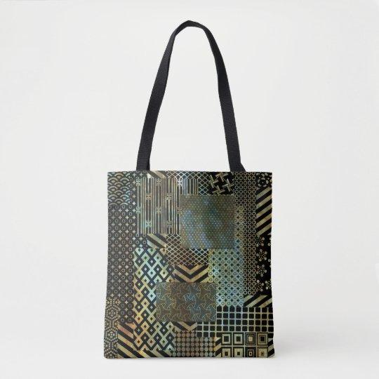 Geometric Patch Deco Tote Bag