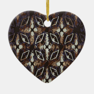 Geometric pattern.Abstract background Ceramic Heart Ornament