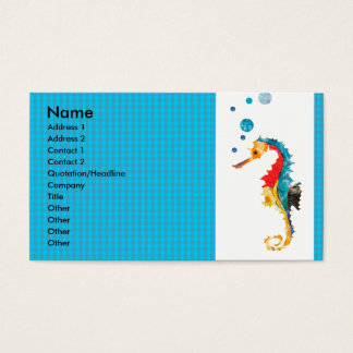 Geometric Pattern  Animal Watercolor  Sea Horse Business Card