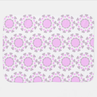 Geometric pattern baby blanket - grey and pink