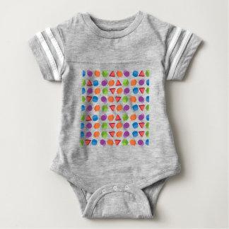 Geometric pattern baby bodysuit