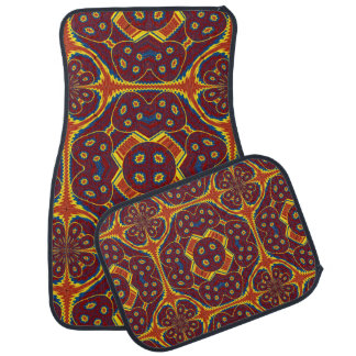 Geometric pattern car mat