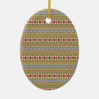 Geometric pattern ceramic ornament