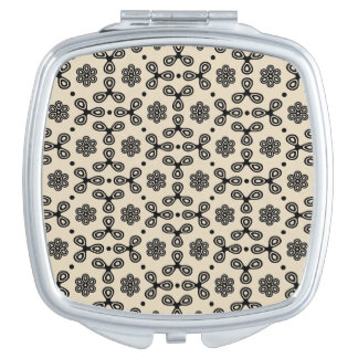 Geometric Pattern Compact Mirror