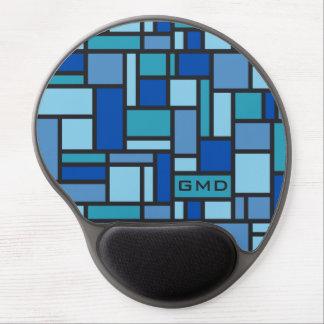 Geometric Pattern custom monogram mousepad Gel Mouse Pad