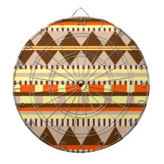 Geometric pattern dartboard