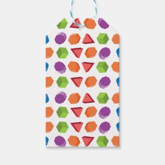 Geometric pattern gift tags