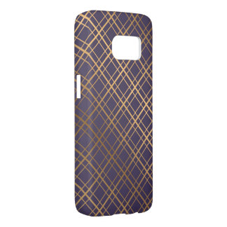 Geometric pattern gold stripes Samsung Galaxy Case