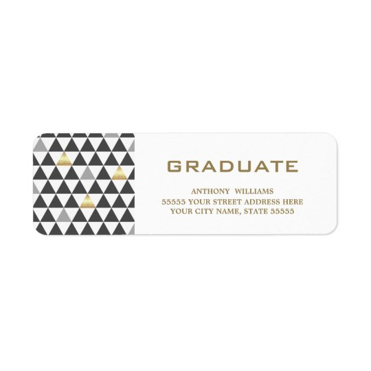 Geometric Pattern | Graduation Address Labels
