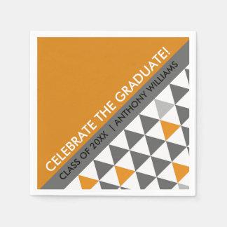 Geometric Pattern Graduation Party Paper Napkins