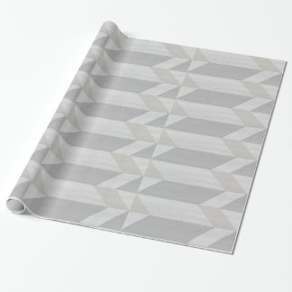 geometric pattern gray wood wrapping paper