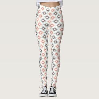 Geometric pattern in aztec style leggings