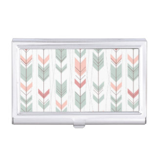 Geometric pattern in retro style business card holder