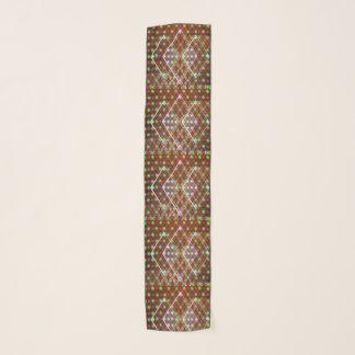 Geometric pattern long chiffon scarf