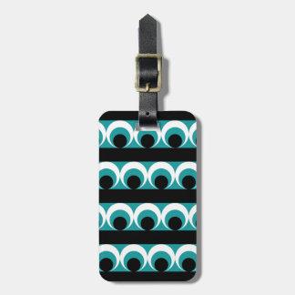 Geometric pattern luggage tag