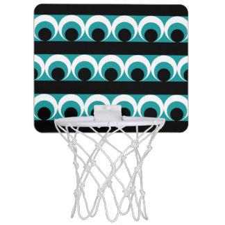 Geometric pattern mini basketball hoop